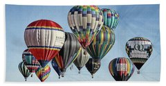 Ballooning Beach Towel by Marie Leslie