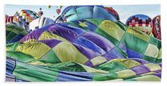 Ballooning Waves Beach Towel by Marie Leslie