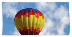 Balloons In The Cloud Beach Towel by Marie Leslie