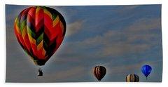 Balloons In The Sky Beach Towel