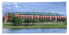 Ballpark In Arlington Now Globe Life Park Beach Towel