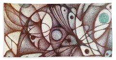 Ballpoint On Canvas  Beach Towel