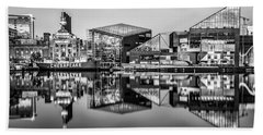 Baltimore In Black And White Beach Towel