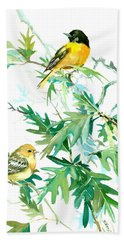 Baltimore Orioles And Oak Tree Beach Sheet by Suren Nersisyan