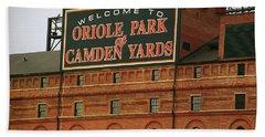 Baltimore Orioles Park At Camden Yards Beach Towel