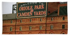 Baltimore Orioles Park At Camden Yards Beach Sheet