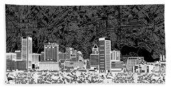 Baltimore Skyline Abstract 12 Beach Sheet