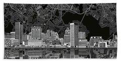 Baltimore Skyline Abstract 9 Beach Sheet
