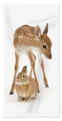 Bambi And Thumper Beach Towel