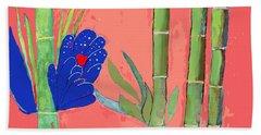 Bamboo Flower Beach Towel