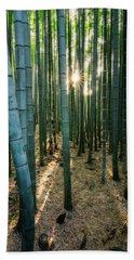 Bamboo Forest At Arashiyama Beach Towel