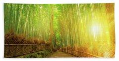 Bamboo Grove Arashiyama Kyoto Beach Sheet