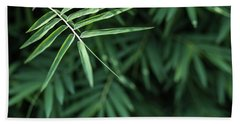 Bamboo Leaves Background Beach Towel by Jingjits Photography