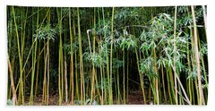 Bamboo Wind Chimes  Waimoku Falls Trail  Hana  Maui Hawaii Beach Towel by Michael Bessler