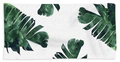 Banan Leaf Watercolor Beach Towel by Uma Gokhale