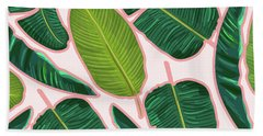 Banana Leaf Blush Beach Towel