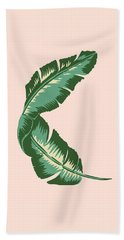Banana Leaf Square Print Beach Towel by Lauren Amelia Hughes