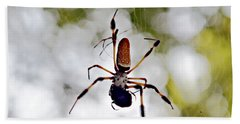 Banana Spider Lunch Time 2 Beach Towel