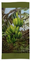 Beach Towel featuring the painting Banana Tree by Chonkhet Phanwichien