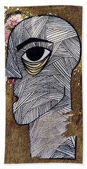 Bandage Man Beach Towel