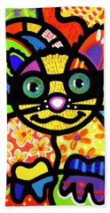 Bandit The Lemur Cat Beach Towel