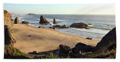Bandon Beachfront Beach Sheet by Athena Mckinzie
