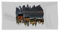 Beach Towel featuring the photograph Bandon Boat Basin At Dawn by Thom Zehrfeld