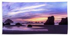 Bandon On Fire Beach Towel