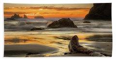 Bandon Orange Glow Sunset Beach Towel
