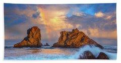 Bandon Rainbow Beach Sheet by Darren White