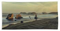 Bandon Sunrise Pano Beach Sheet