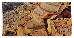 Bands Of Colorful Sandstone In Valley Of Fire Beach Towel
