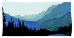 Banff Jasper Blue Beach Towel