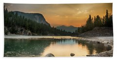Banff Sunrise Beach Towel