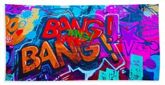 Bang Graffiti Nyc 2014 Beach Sheet by Joan Reese