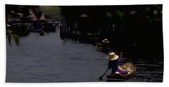 Bangkok Floating Market Beach Towel