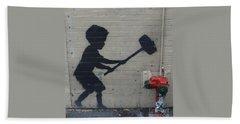 Banksy In New York Beach Towel