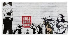 Banksy - Saints And Sinners   Beach Towel