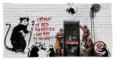 Banksy - The Tribute - Rats Beach Towel