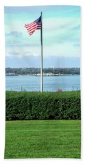 Beach Towel featuring the photograph Banner Of Freedom by Lon Casler Bixby