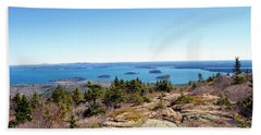 Bar Harbor From Cadillac Beach Towel