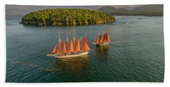 Sailing Thru Life The Downeast Way Beach Towel