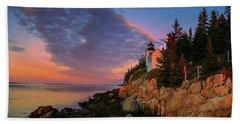 Bar Harbor Light Beach Sheet