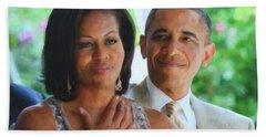 Barack And Michelle Obama Beach Towel