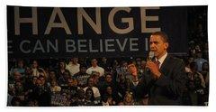 Barack Obama Campaigning Beach Towel