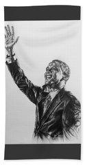 Barack Obama Beach Sheet by Darryl Matthews