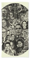 Barack Obama- Time For Change Beach Towel