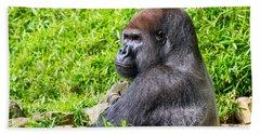 Baraka - Western Lowalnd Silverback Gorilla Beach Towel