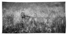 Beach Sheet featuring the photograph Barb Wire Fence by Bill Wakeley