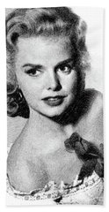 Barbara Lang, Vintage Actress By Js Beach Towel